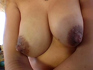 Banging van picks up hot blonde with big round nipples