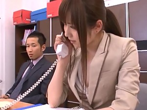 Toy Fuck for Asian Secretary in the Office