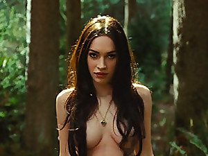 Erotic movie scenes with sexy Megan Fox, involving hot lesbian episodes