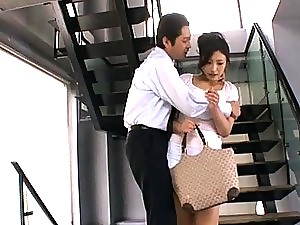Asian Office Slut Fucks Co-Worker In Locker Room.